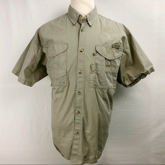 526947c0 Columbia Shirts | Pfg Xl Fishing Gear Button Shirt Mens Tan | Poshmark